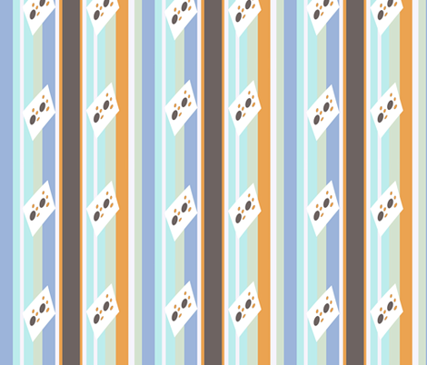 The patter of little Feet fabric by winterblossom on Spoonflower - custom fabric
