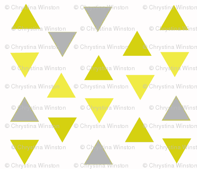 Triangle Tango in Mustard and Gray