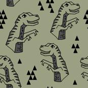 dinosaurs // dino dinosaurs artichoke green boys kids baby prehistoric jurassic tyrannosaurus rex