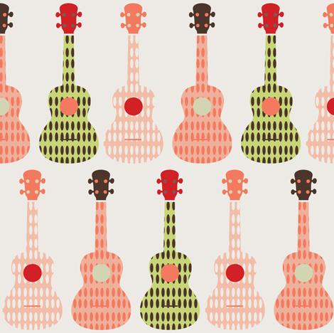 ukulele 9 fabric by owlandchickadee on Spoonflower - custom fabric