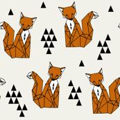 fox // rust foxes kids nursery baby cream brown sweet gender neutral foxes