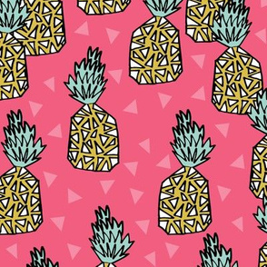 pineapple // pink sweet tropical fruits summer exotic hawaii