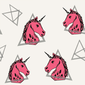 geo unicorn // trendy rad 80s unicorn fancy unicorn design cute girls