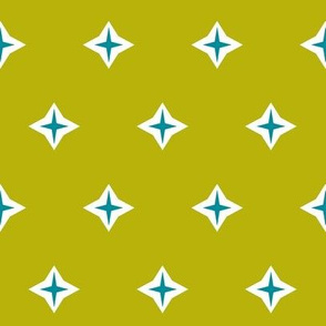 Diamond star-chartreuse