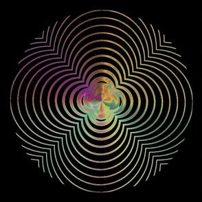 Pillow Amazing Circle Plasma Rings on Black  21x18