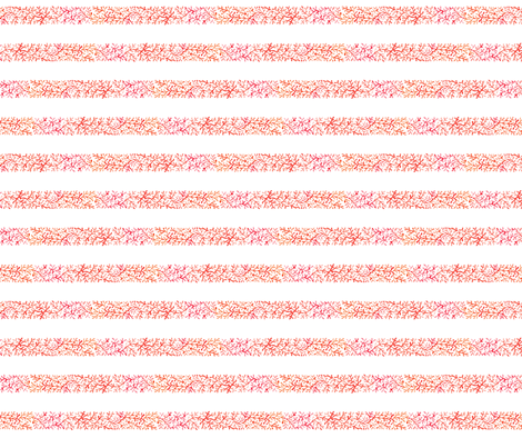 Branch Stripe | Red/White fabric by imaginaryanimal on Spoonflower - custom fabric