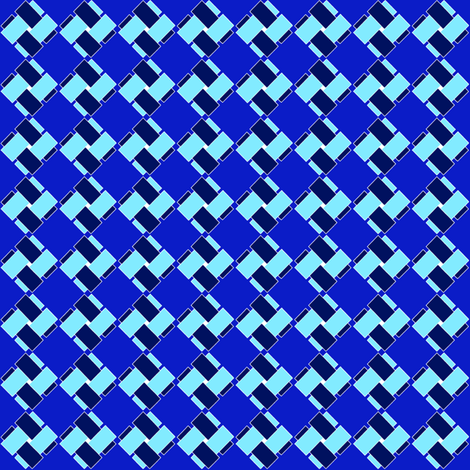 Blue and blue on blue fabric by su_g on Spoonflower - custom fabric