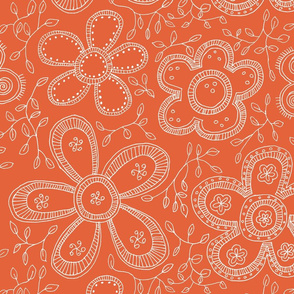 Fashion flowers orange