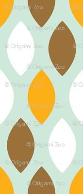 Brown and orange leaves