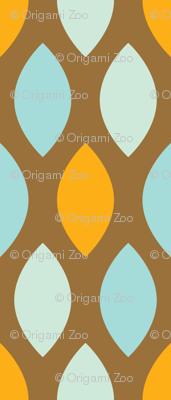 Mint and orange leaves