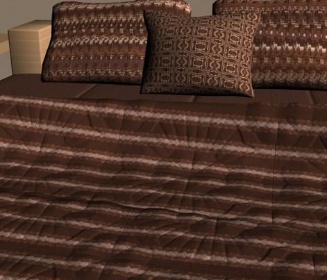 Brown Horizontal Stripe with Circles