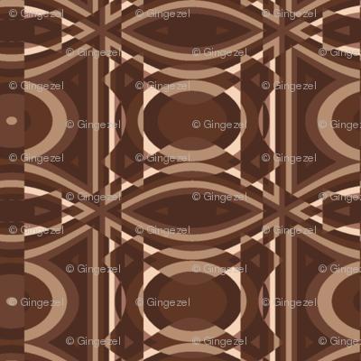 Brown Geometric © Gingezel™