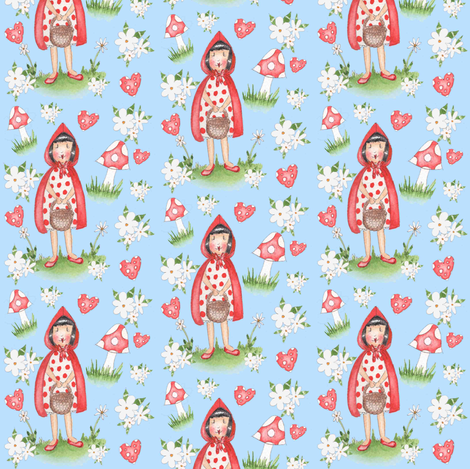 little_red fabric by fanciful_fox on Spoonflower - custom fabric
