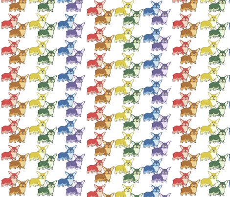 Corgi Skittles fabric by captainsunshine on Spoonflower - custom fabric