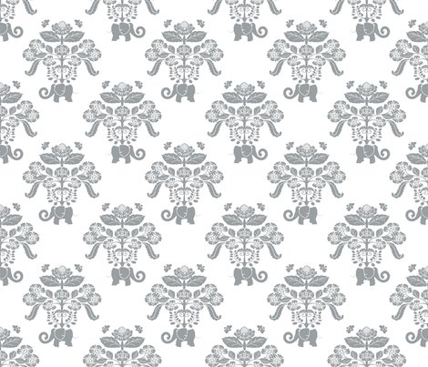 Elephants_in_my_garden_damask_white_with_gray_shop_preview