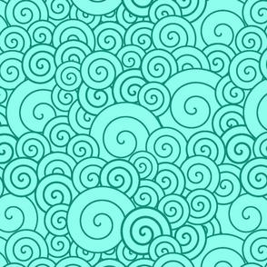 Cyan spirals