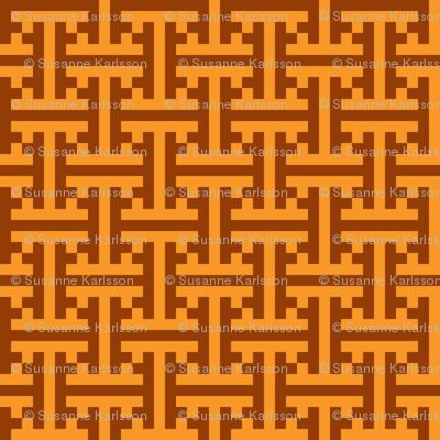 geometric orange pattern