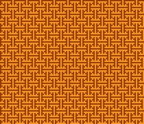 geometric orange pattern fabric by suziedesign on Spoonflower - custom fabric