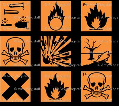 Hazard symbols (old) colour