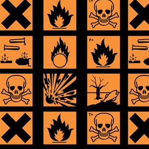 Hazard symbols (old) colour