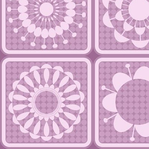 purple and pink pattern blocks