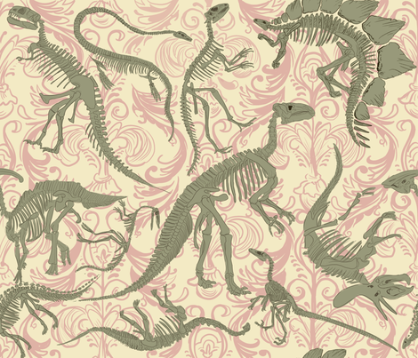 Paleontology Party fabric by artytypes on Spoonflower - custom fabric