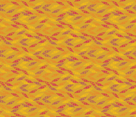 indiansummer_leaves_sunset-02 fabric by luhaddad on Spoonflower - custom fabric