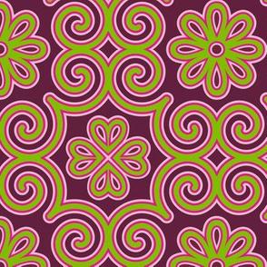 Mod Mongolian Nadaam large motif