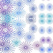 starburst floral in blues