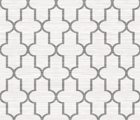 Textured Moroccan Quatrefoil in Cashmere fabric by willowlanetextiles on Spoonflower - custom fabric