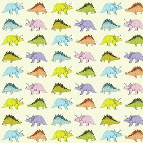 stegosaurus & triceratops (smaller)