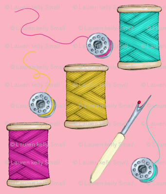 Threads and Bobbins, Pink