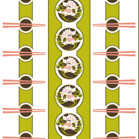 Dim Sum - Goldfish! fabric by moirarae on Spoonflower - custom fabric