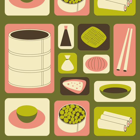Dim Sum fabric by tasha_goddard_designs on Spoonflower - custom fabric