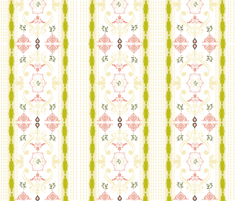 Cantonese Tapestry - lemongrass fabric by drapestudio on Spoonflower - custom fabric
