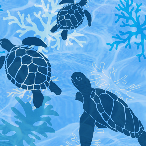 Sea Turtle Dreams fabric by shellypenko on Spoonflower - custom fabric
