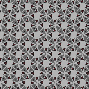 Square dancing triangulations - grey with red pop