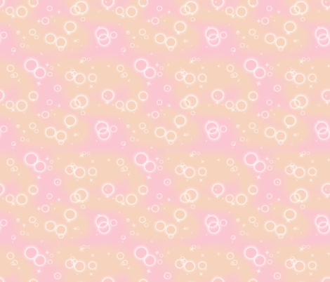 Shojo Bubbles - Warm fabric by pi-ratical on Spoonflower - custom fabric