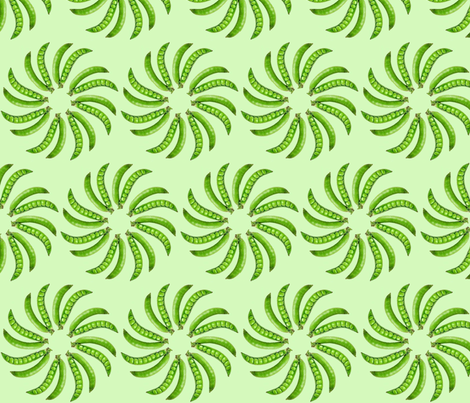 I Come In Peas or Whirled Peas fabric by yllaria on Spoonflower - custom fabric