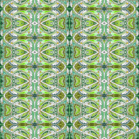 At the Sine of the Daisy fabric by edsel2084 on Spoonflower - custom fabric