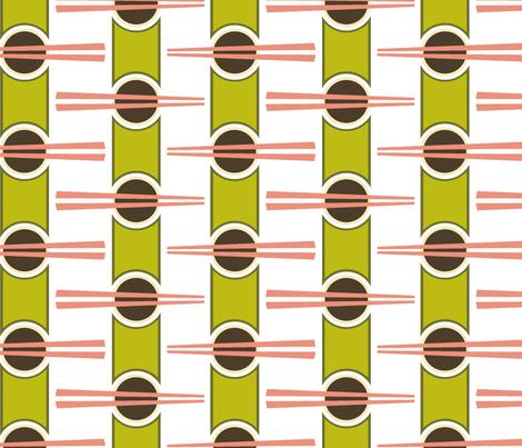 Dim Sum - Chop Chop! fabric by moirarae on Spoonflower - custom fabric