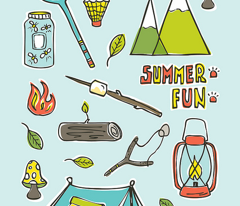 Summer Fun Tea Towel