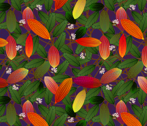 cacao midnight fabric by glimmericks on Spoonflower - custom fabric