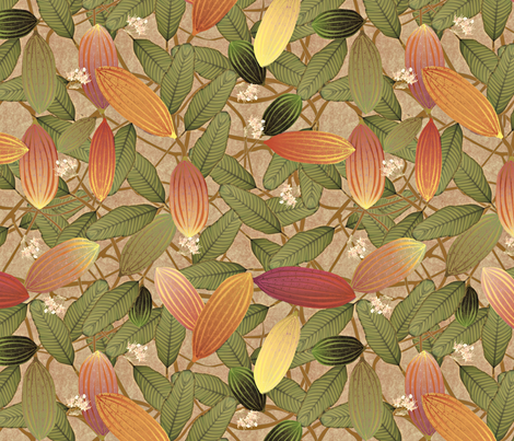 cacao subdued fabric by glimmericks on Spoonflower - custom fabric