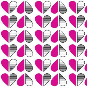 Op Hearts Fuchsia