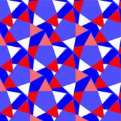 Red White Blue Tumbling Stars