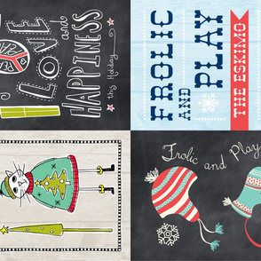 Christmas Tea Towel Set Of 4 Designs
