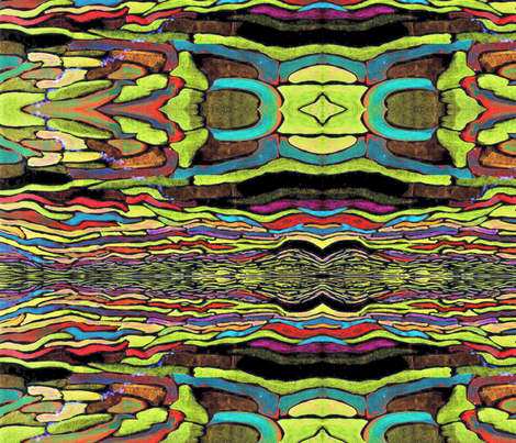 Wider still Sargasso Sea fabric by vasonaarts on Spoonflower - custom fabric