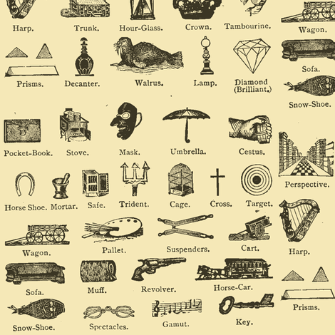 Common Objects of the Steampunk World fabric by edsel2084 on Spoonflower - custom fabric