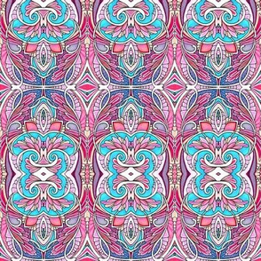 Abstract Pink and Blue Kerchoo